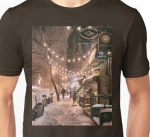 East Village in the Snow - New York City Unisex T-Shirt