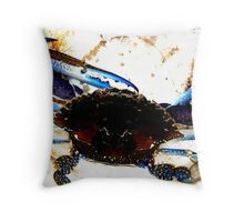 Blue Swimmer Crab Throw Pillow