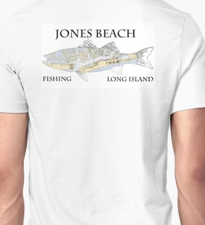 Jones beach nautical striped bass shirt long island Unisex T-Shirt