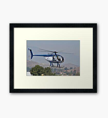 Police cruiser in the sky Framed Print