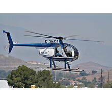Police cruiser in the sky Photographic Print