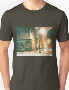 Greenwich Village on a Winter Night - New York City T-Shirt