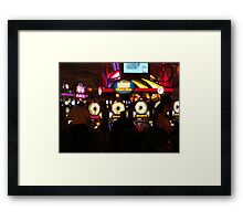 Bright Lights and Loud Noises   ^ Framed Print