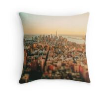 New York City - Skyline at Sunset Throw Pillow