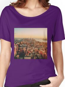 New York City - Skyline at Sunset Women's Relaxed Fit T-Shirt