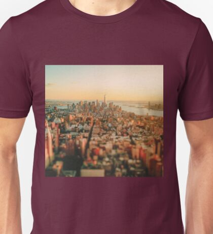 New York City - Skyline at Sunset Unisex T-Shirt