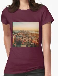 New York City - Skyline at Sunset Womens Fitted T-Shirt