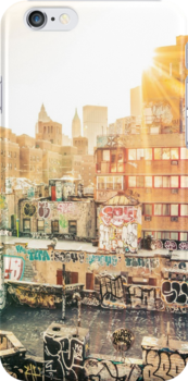 Graffiti Rooftops at Sunset - Chinatown - New York City by Vivienne Gucwa
