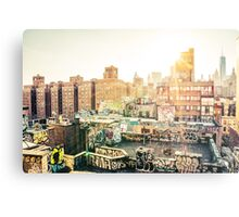 Graffiti Rooftops at Sunset - Chinatown - New York City Metal Print