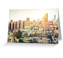 Graffiti Rooftops at Sunset - Chinatown - New York City Greeting Card