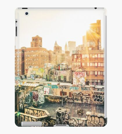 Graffiti Rooftops at Sunset - Chinatown - New York City iPad Case/Skin