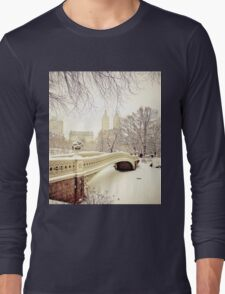 Winter in Central Park Long Sleeve T-Shirt