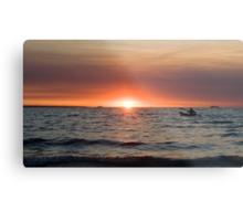 Sunset paddler - Darwin harbour Metal Print