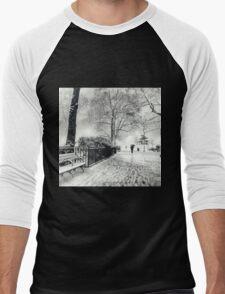 Winter Night - Madison Square Park - New York City Men's Baseball ¾ T-Shirt