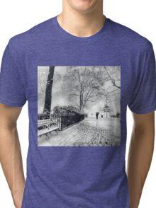 Winter Night - Madison Square Park - New York City Tri-blend T-Shirt