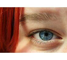 Blue eyes - red hair Photographic Print