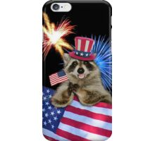 Patriotic Raccoon iPhone Case/Skin