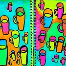 26 coffee cups by donnamalone