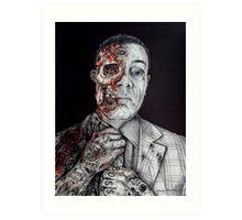 Breaking Bad Gus Fring as Gangster Art Print