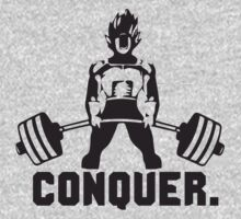 CONQUER - Weightlifting Super Saiyan Vegeta by oolongtees