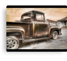 Ford V8 Old Timey-Look HDR Canvas Print
