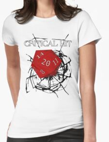CRITICAL HIT ! Womens Fitted T-Shirt