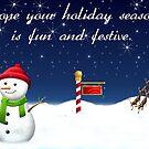 Holiday Season Christmas Card by Bernie Stronner