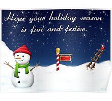 Holiday Season Christmas Card Poster