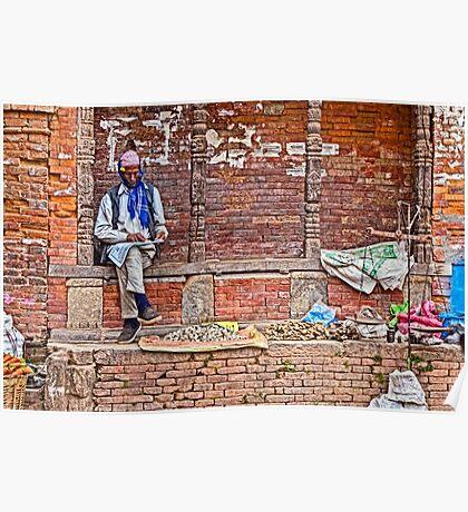 Street Seller. Poster