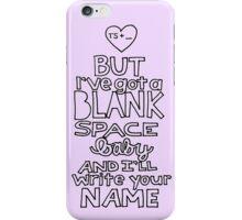 Blank Space by Taylor Swift Lyricart iPhone Case/Skin