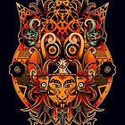 Dayak Tribe of Borneo by GODZILLARGE
