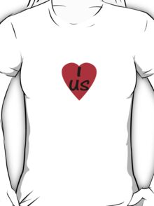 I Love USA Country Code US - USA T-Shirt & Sticker T-Shirt