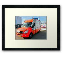 Ambulance Amsterdam Sail 2010 Framed Print