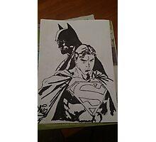 Batman & superman Photographic Print