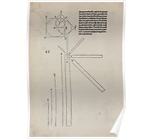 Measurement With Compass Line Leveling Albrecht Dürer or Durer 1525 0044 Circle and Square Layout Poster