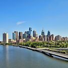 Schuylkill River Panoramic by Lanis Rossi