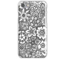 B&W Flowers 2 iPhone Case/Skin