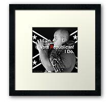 Vote Republican! Framed Print