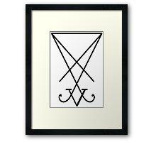Satanic Simbol Framed Print