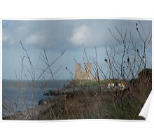 reculver from the cliff top Poster
