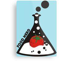 Funny food nerd tomato chemistry beaker Metal Print