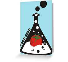 Funny food nerd tomato chemistry beaker Greeting Card