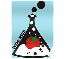 Funny food nerd tomato chemistry beaker Poster