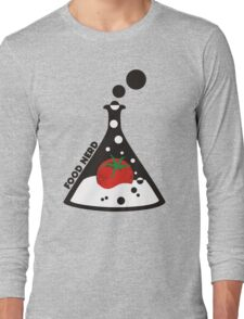 Funny food nerd tomato chemistry beaker Long Sleeve T-Shirt