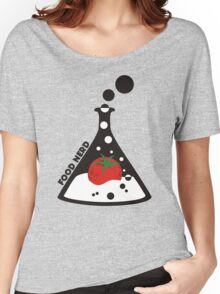 Funny food nerd tomato chemistry beaker Women's Relaxed Fit T-Shirt