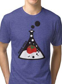 Funny food nerd tomato chemistry beaker Tri-blend T-Shirt