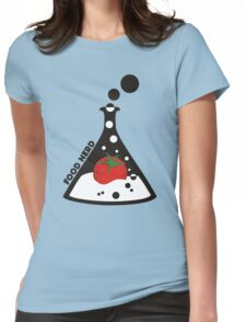 Funny food nerd tomato chemistry beaker Womens Fitted T-Shirt