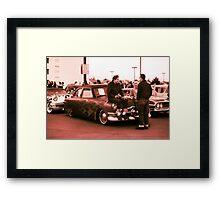 Kustom, Kids n Kruisin Shoebox 1950 Ford Framed Print