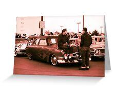 Kustom, Kids n Kruisin Shoebox 1950 Ford Greeting Card