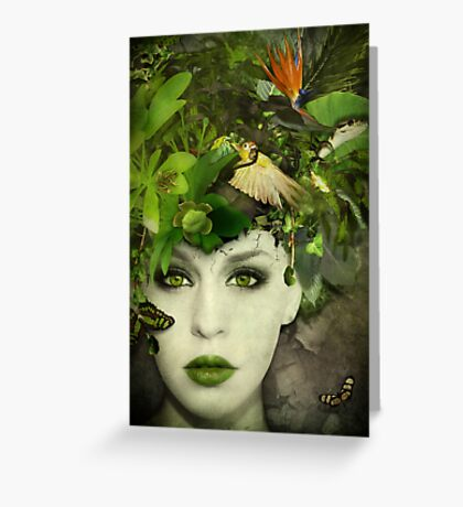 It's A Jungle In There! Greeting Card